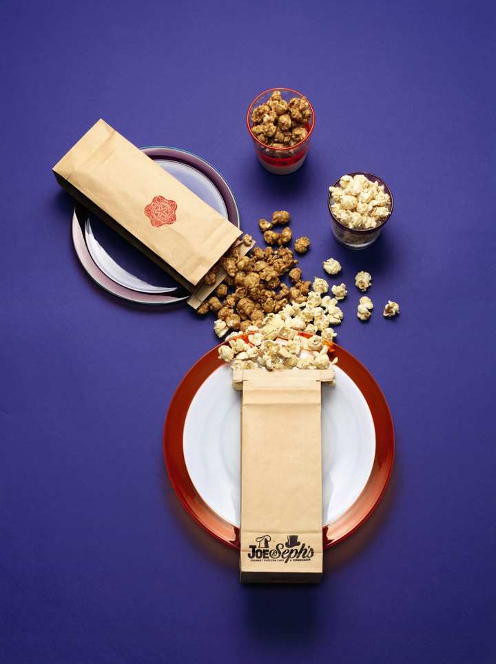 Sweet and savoury popcorn by Joe & Seph's