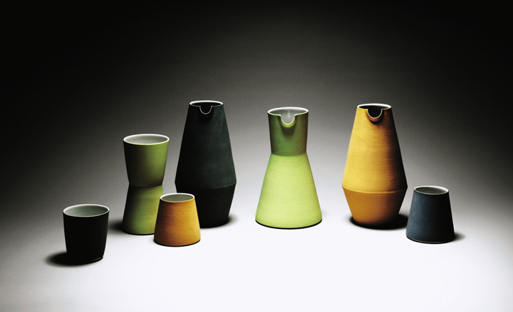 Water jugs and beakers by Derek Wilson
