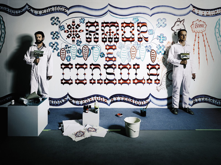 Live-painted wall by Gijs Frieling and Job Wouters, and Schmincke