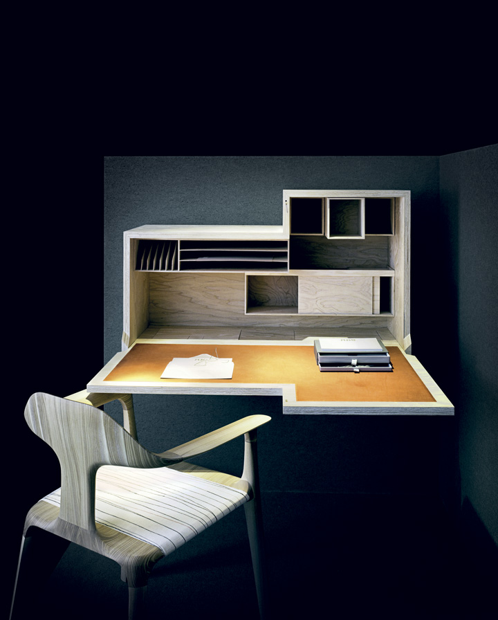 Bureau, by Joseph Walsh Studio and O'Donnell + Tuomey; and 'History' chair by Design Partners, Joseph Walsh Studio and Erica Wakerly