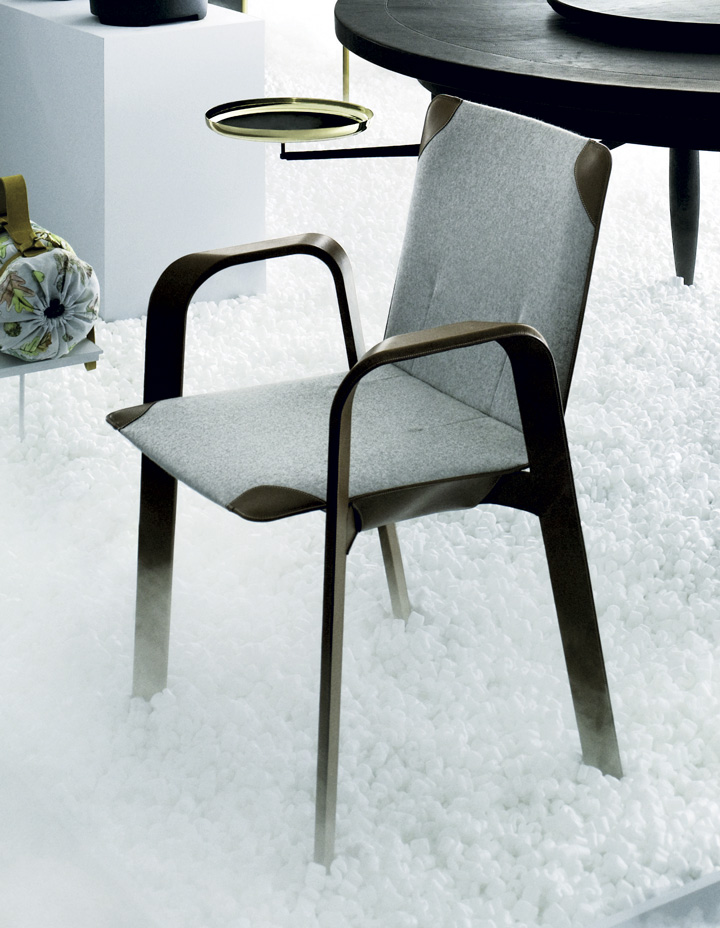 'Sellier' felt chair by Denis Montel, Eric Benqu and Herms