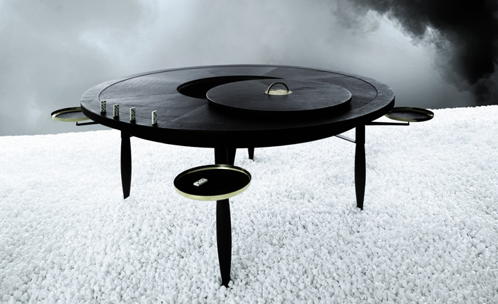 'Spel' games table, by Michaël Verheyden