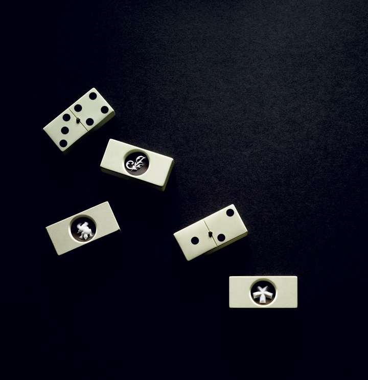'Cameo' dominoes, by James Irvine and De Simone