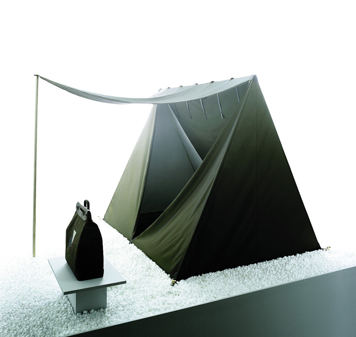 'V' tent by Sam Hecht and Kim Colin/Industrial Facility, and Louis Vuitton